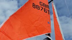 J/105 orange storm sails for Rolex Fastnet Race