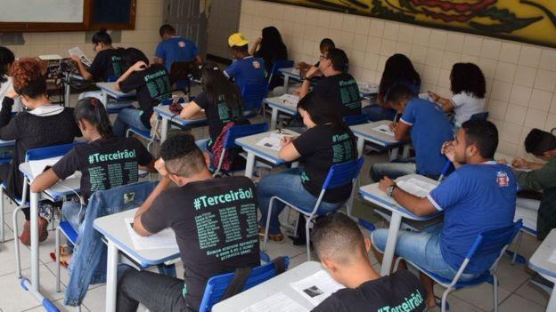 Sala de aula do ensino médio na Bahia, em foto de arquivo de 2016
