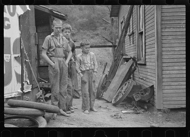 [Untitled photo, possibly related to: Scotts Run, West Virginia. Miner's sons]