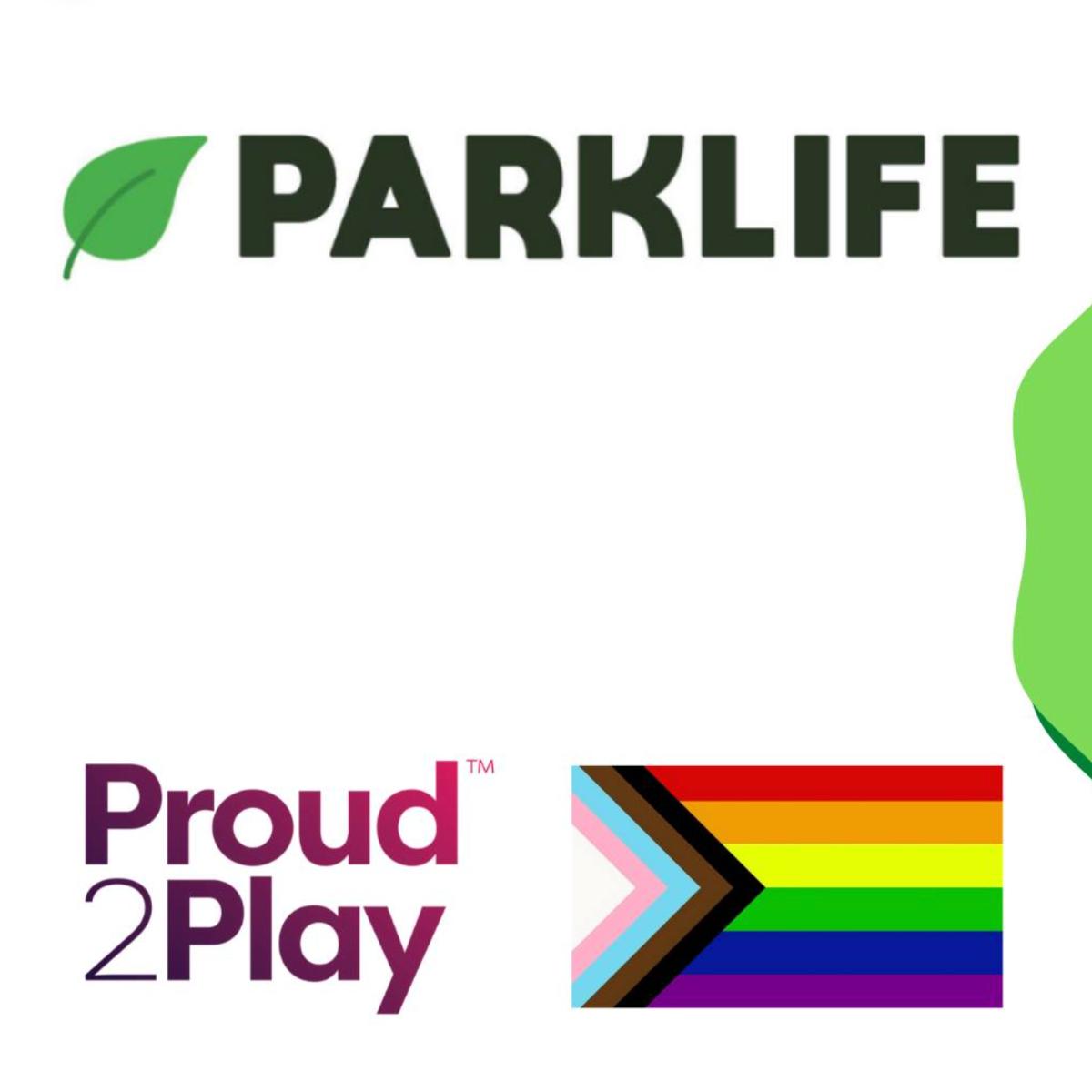 Parklife logo with pride flag