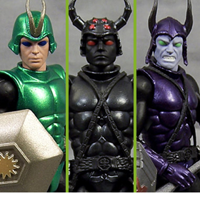 Sectaurs: Warriors of Symbion Wave 1.5 Set of 3 Figures