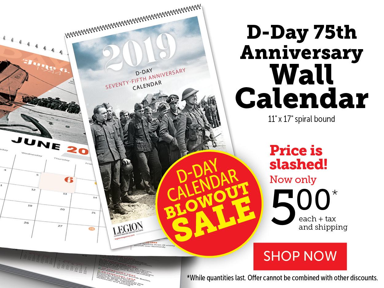 D-Day 75th Anniversary Wall Calendar