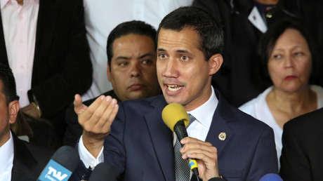 El diputado Juan Guaido en una rueda de prensa en Caracas, Venezuela, el 3 de mayo de 2019.