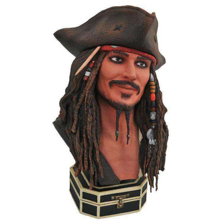 Image of Pirates of the Caribbean Legends in 3D Jack Sparrow 1/2 Scale Limited Edition Bust - MAY 2019