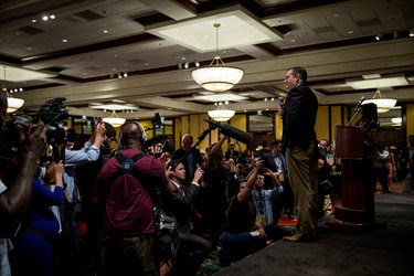 Ted Cruz addressed his home state's delegation at a morning breakfast on Thursday in Cleveland, and many of the Texans there remained hostile toward the senator after his convention speech the night before.