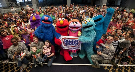 Sesame Street and the USO head overseas to perform for service members and their families
