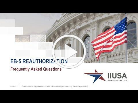 IIUSA EB-5 Reauthorization FAQs Webinar