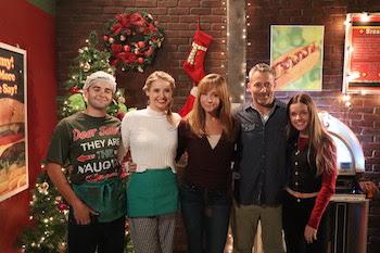 Todd, Emma, Rachel, Michael, Sophia at Cafe