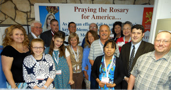 Some Rosary Rally Caller Volunteers at Kansas Office