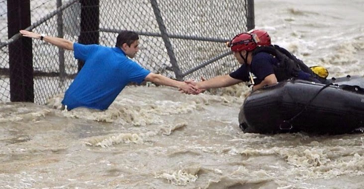 Houston flood helping hand