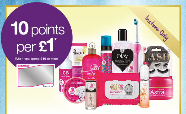 limited edition essentials this bank holiday weekend and earn 10 points per £