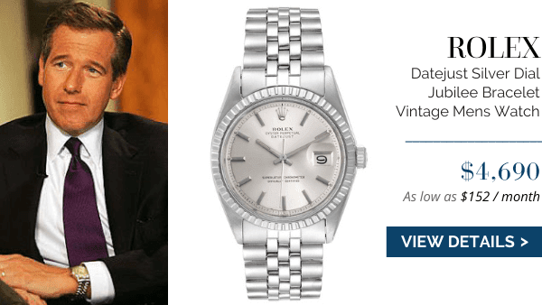 brian williams Datejust Silver Dial Jubilee
