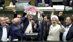 "Iran: Lawmakers burn US flag in Parliament while screaming ""Death to America!"""