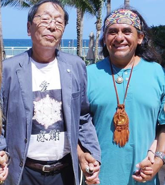 IMAGE: Dr. Emoto and Iron Eagle