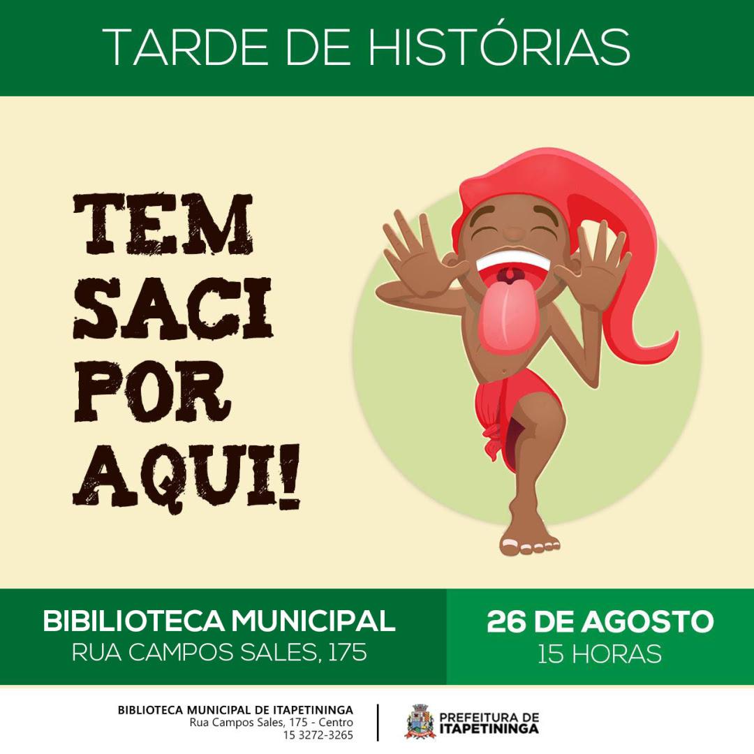'Tarde de Histórias' da Biblioteca de Itapetininga será realizado dia 26 e homenageará o folclore