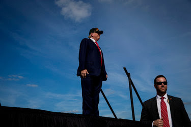 Donald J. Trump at a campaign event in Sanford, Fla., on Tuesday.