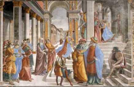 Ofiarowanie Maryi w świątyni - Domenico Ghirlandaio