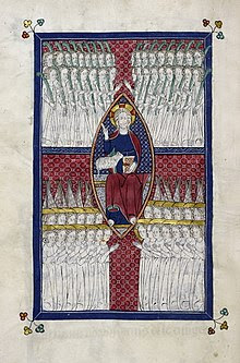 Картинки по Ð·Ð°Ð¿Ñ€Ð¾Ñ Ñƒ Поклонение Ргнцу 144 Ñ'Ñ‹Ñ Ñ Ñ‡ запечатленных», миниатюра из Welles Apocalypse, XIV век