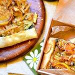Крымский сырный пирог с кальмаром, мидиями и креветками