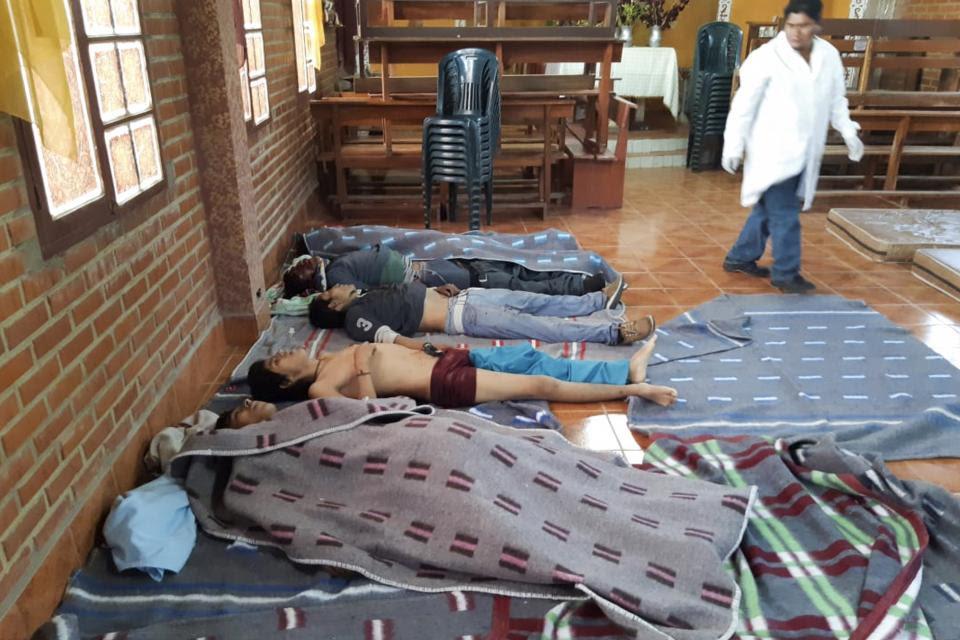 Los cinco muertos en el hospital de Sacaba.