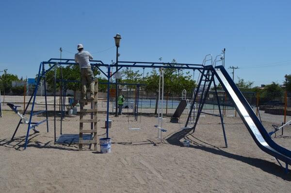 16233454574457136 Pausa MX Atendió Gobierno Municipal 78 parques con trabajos de pintura durante mayo