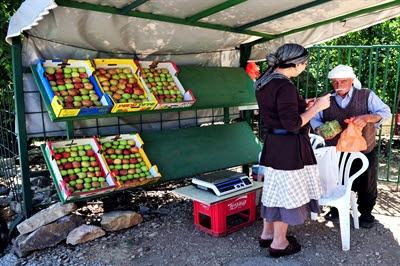 Druze fruit stall