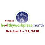 Healthy Workplace Month, October 1 - 31, 2016 (logo)