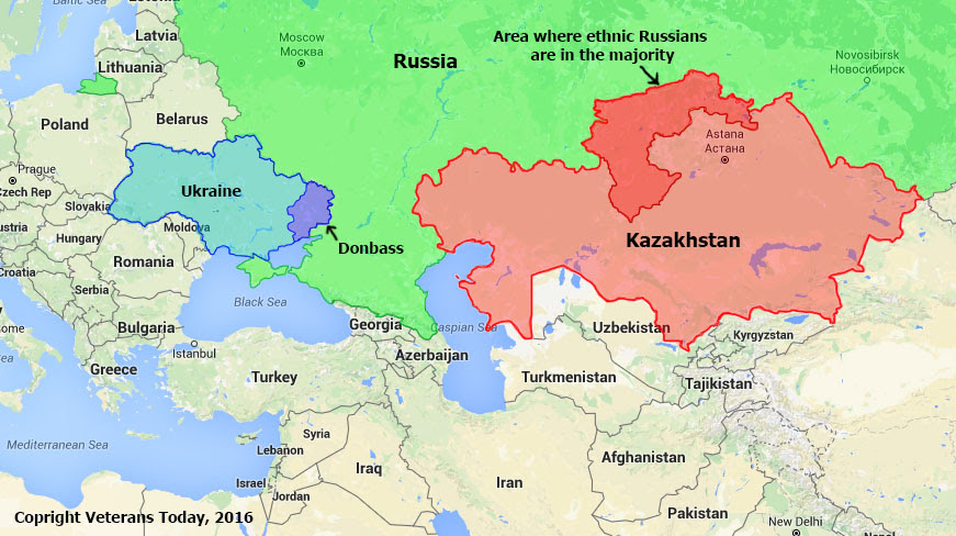 Northern Kazakhstan has an ethnically Russian population which opens the door to the possibility of a conflict along ethnic lines, much like the Donbass situation but on a much larger scale due to the larger area and population.