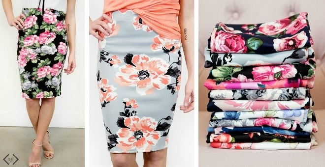 HOT!! Floral Pencil Skirts!