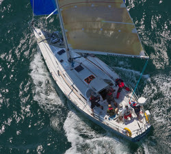 J/42 sailing in the Med