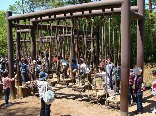 国営武蔵丘陵森林公園「冒険コース」
