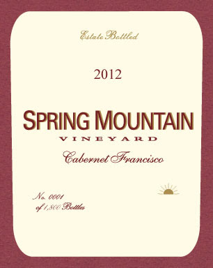 Spring Mountain Vineyard Cabernet Franc 2012