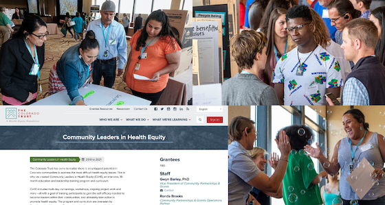 Images relating to the Community Leaders in Health Equity program