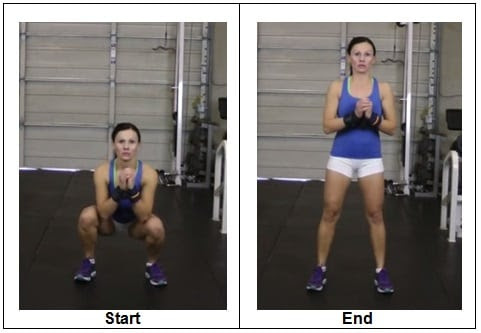 T2 RIGHT WAY to do a Bodyweight Squat (Front View)