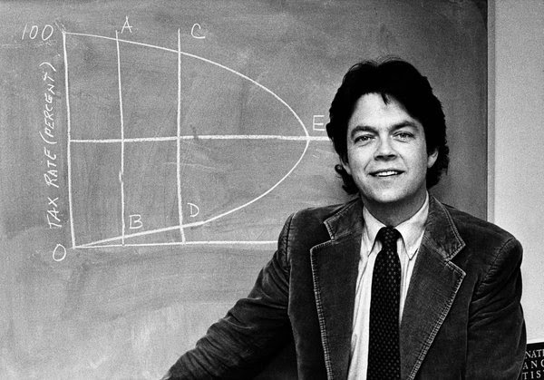 Arthur Laffer in 1981. His theory linking tax cutting and economic growth has been revived in President Trump's plan.