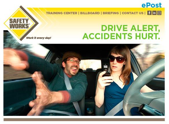 Drive alert, accidents hurt.