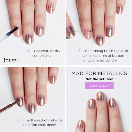 Mad for Metallics Nail Art Tut...