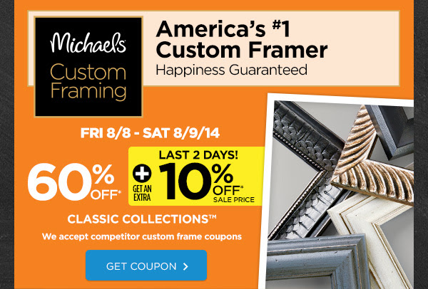 Custom Framing 60% OFF *
