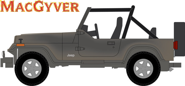 44760-C 1:64 Hollywood Series 16 ft. a 1987 Jeep Wrangler YJ – MacGyver (1985-1992 TV Series