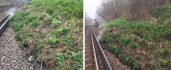 Network Rail engineers work round-the-clock to reopen Horsham-Dorking line following landslip