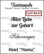 Deutsche textstempeln BA 01