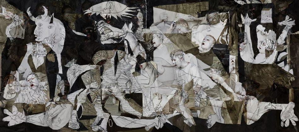 Liu Bolin (China), Guernica, 2016
