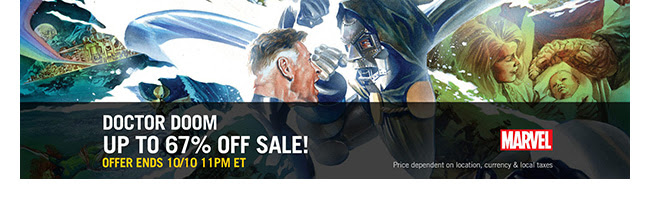 Marvel Doctor Doom Sale: up to 65% off! | Ends 10/10
