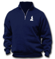 Navy ¼ Zipper Fleece Sweatshirt