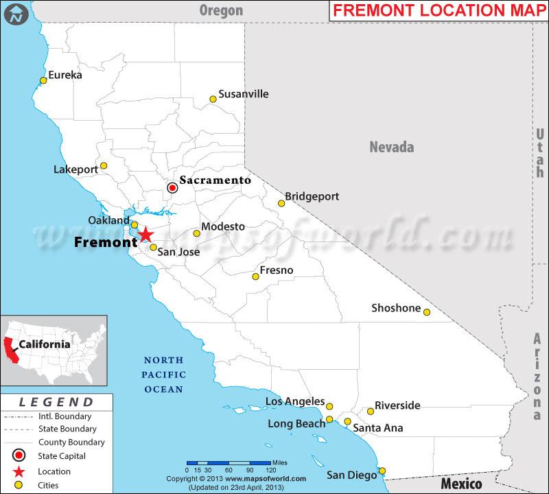 Image result for fremont map