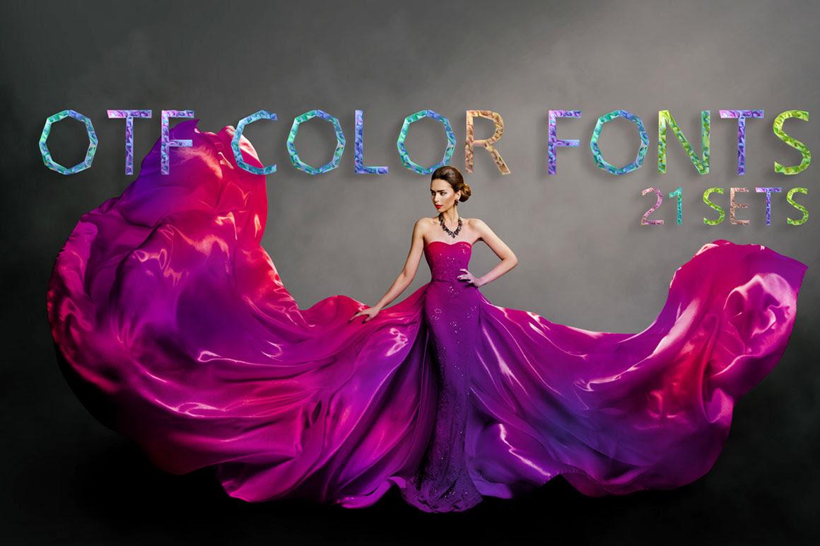 otf color fonts 21 sets