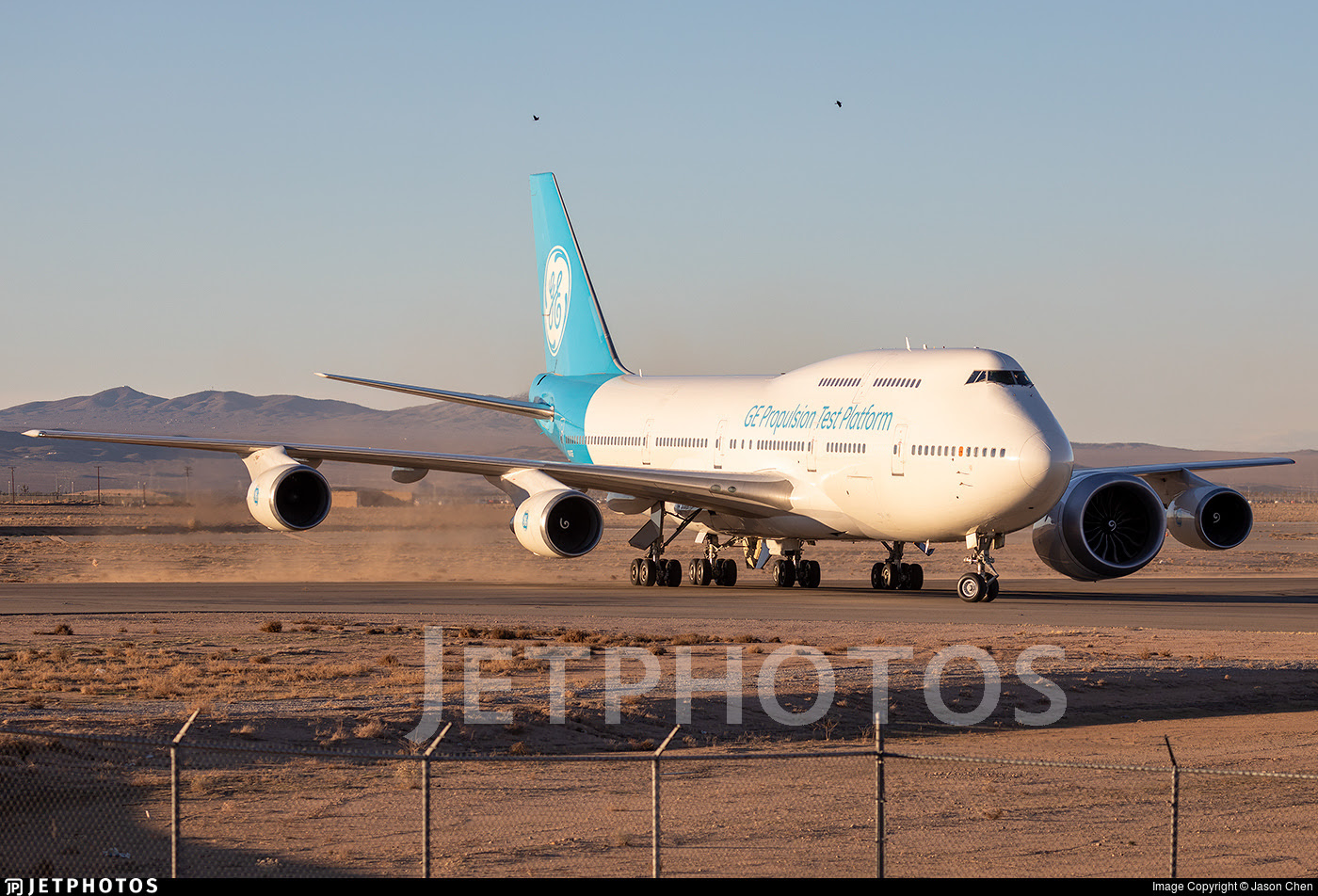 The GE Aviation 747 carrying the GE9X engine