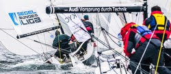 J/70s sailing German Sailing League