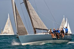 J/125 sailing offshore at Heineken St Maarten regatta