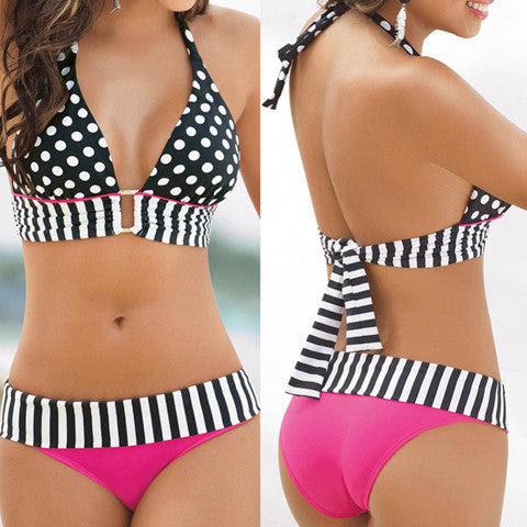 Polka Dot Sexy Women Swimwear Bikini Set
